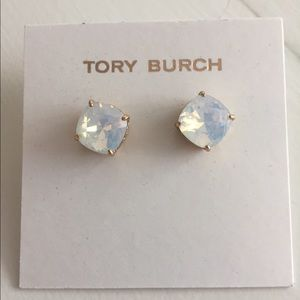 Tory Burch pearl iridescent stud earrings
